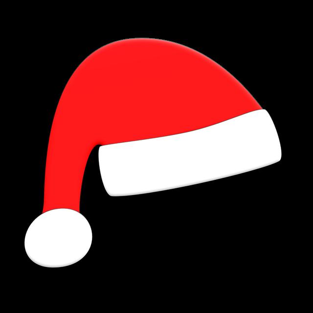 手绘简笔画圣诞帽
