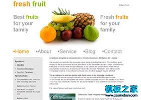 新鲜水果店网站模板