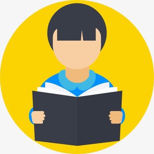 学生读书卡通小图标