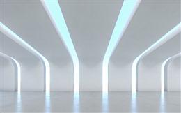 白色3D立体科技感背景