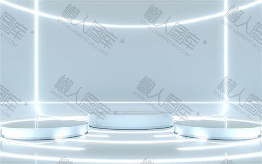 三维立体舞台科技背景