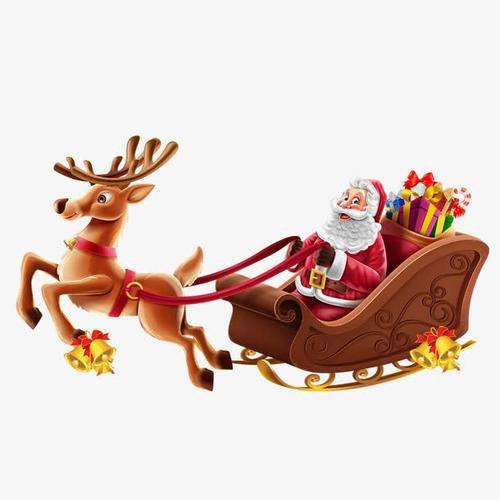 圣诞老人雪橇插画