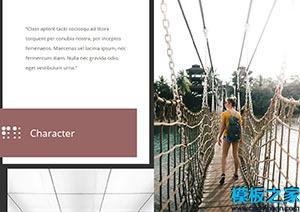 个人相册多色主题响应式网站模板