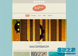 插画设计师作品展示html5模板