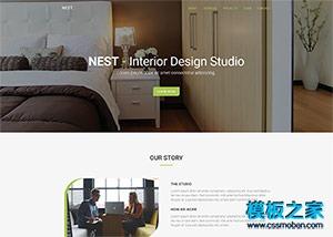 家居装修设计公司网站模板