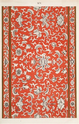 中国风红色复古花纹背景