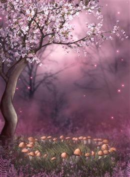 桃花飘落动态背景