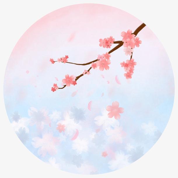 樱花水彩画