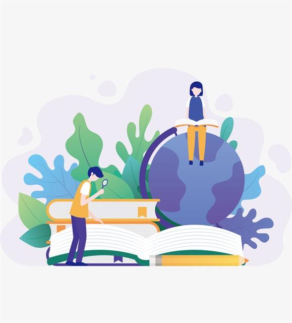 学校教育创意插画
