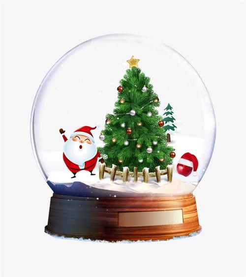 圣诞水晶球装饰