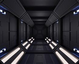 黑色空间感科技隧道背景