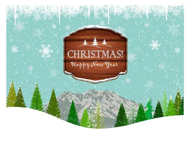 圣诞树海报装饰边框