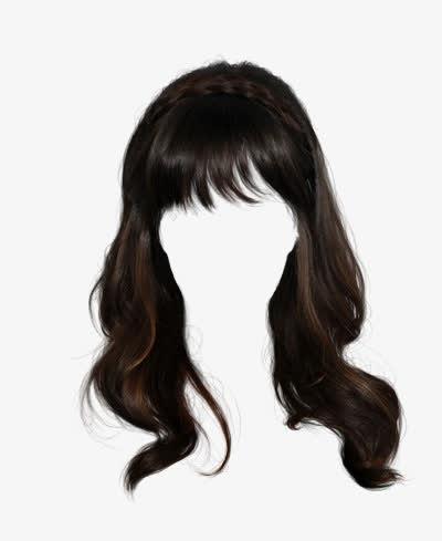 ps证件照头发素材女