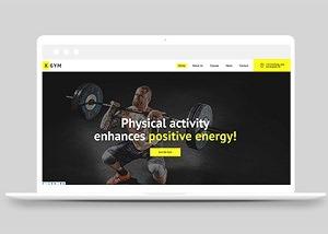 健身房私人定制html首页网站模板