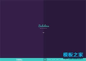 ui设计师作品展示主页模板