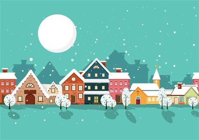 圣诞节日手绘插画