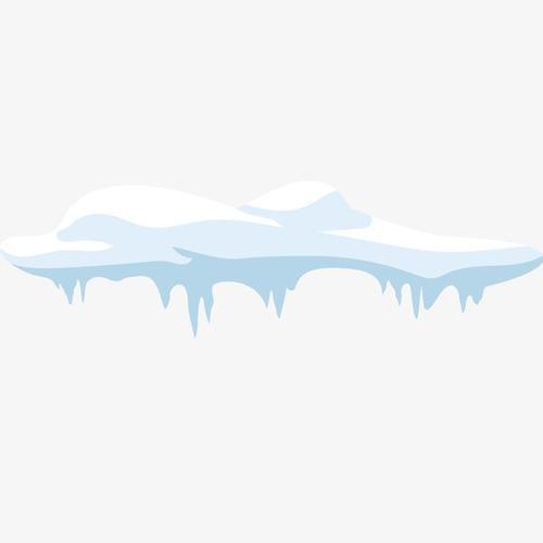 卡通雪堆免抠PNG