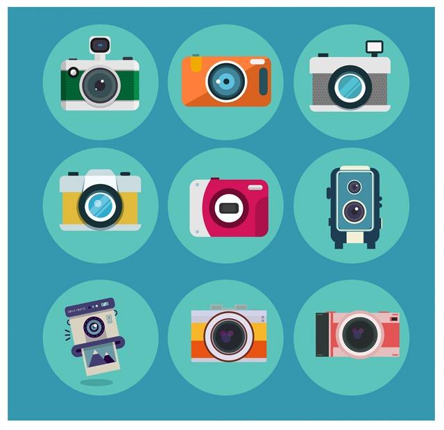 扁平化卡通相机