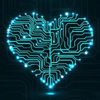led爱心科技电路板ppt背景
