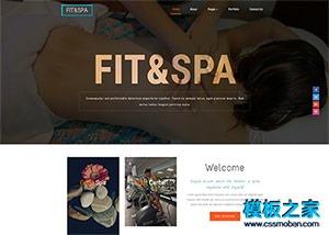 瑜伽减肥网站模板