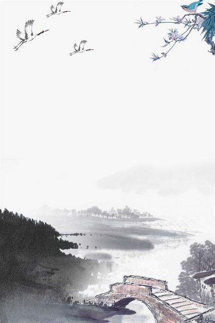 水墨画中国风海报背景