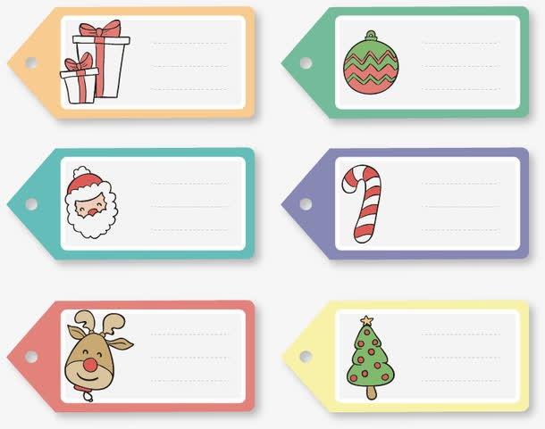 圣诞节便签卡设计