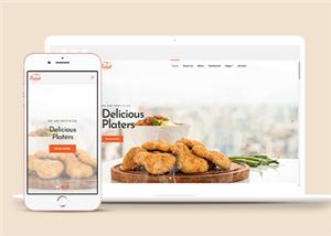 美食餐饮店铺主页网站模板