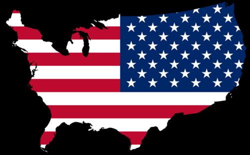 手绘简易美国地图