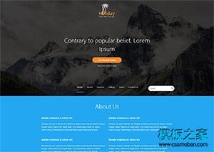 沙滩海滨度假旅游网站模板