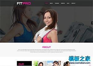 瑜伽运动健身网站模板