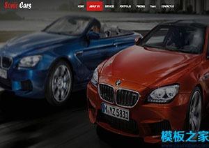单页引导式汽车维修公司官网模板