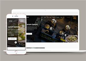精美宽屏法式高端餐饮行业网站模板