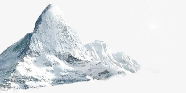 冬天雪地冰山PNG免抠