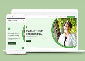 健康养生宣传公益网站模板