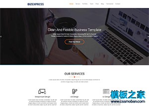 商务投资单页面网站模板