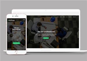 商业投资网站模板