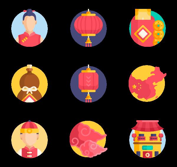 春节新年卡通图标