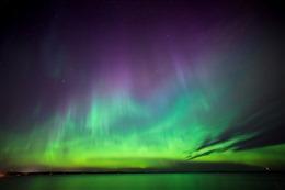 北极极光风景图