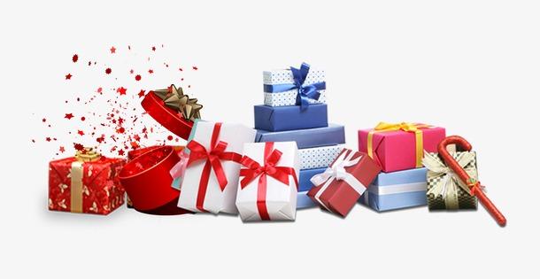 矢量圣诞节礼盒节日装饰
