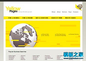 英文外贸CSS网站模板