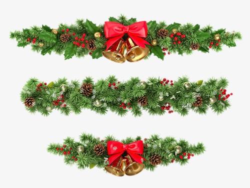 圣诞松枝装饰