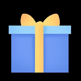 蓝色圣诞礼物盒