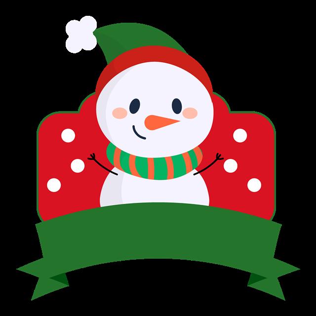 圣诞节雪人海报装饰