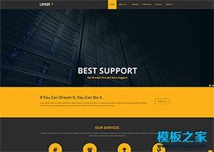 linux虚拟主机提供商网站模板