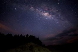 银河星空真实图片