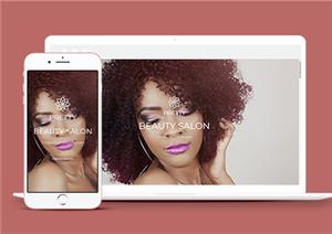 美容院响应式网站模板