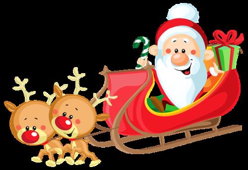 麋鹿圣诞老人坐车