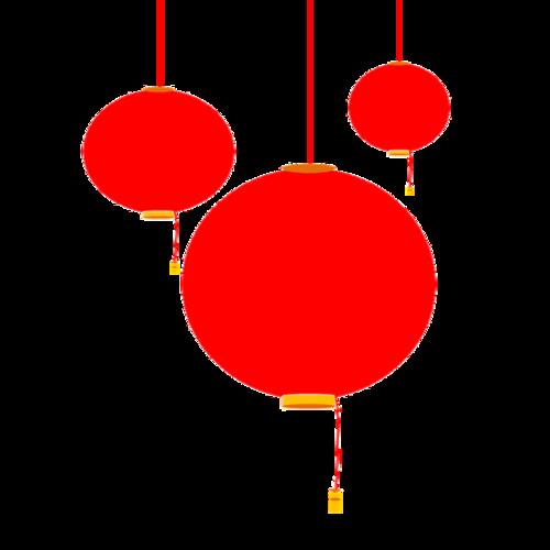 扁平风红灯笼