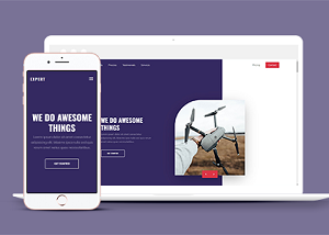 团队产品展示合作网站模板