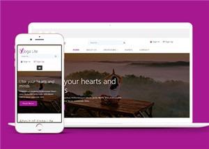 瑜伽健身类HTML5网站模板